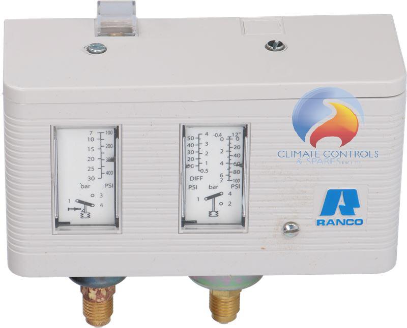 Ranco 017H4705 Dual Pressure Control Man/Auto