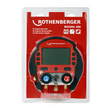 Rothenberger Rocool 600 Digital Manifold Set With 1 Temp Sensor 00569