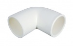 Aspen White Overflow 90 Degree Elbow