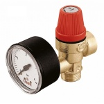 SAFETY RELIEF VALVE 1/2 M/F 3 BAR GAUGE PORT