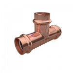 >B< MaxiPro Copper Press Fit Equal Tee - 1/4'', 3/8'', 1/2'', 5/8'', 3/4'', 7/8'', 1'', 1-1/8''