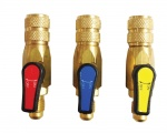 Javac EL33021-RBY Set Of 3 Ball Valves 1/4'' SAE  Red/Blue/Yellow