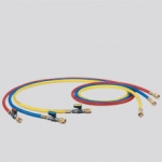 Refco Set Of 3 Charging Hoses With Ball Valve - 36'', 60'', 72''