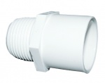 Aspen White Overflow Male Threaded Socket